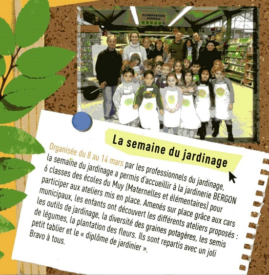 Bergon accueille les coles bergon nature jardin for Le jardin le muy