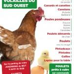 Vente de volailles dans votre jardinerie le muy de 8h30 à 12h, samedi 27 septembre 2014