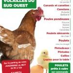 Vente de volailles dans votre jardinerie le muy de 8h30 à 12h, samedi 24 Octobre 2014