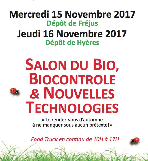 Salon du bio biocontrole nouvelles technologies for Salon des nouvelles technologies