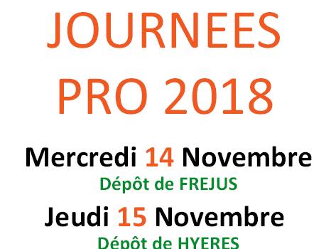 Les Journées Pro 2018 – Fréjus et Hyères