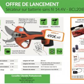 En promo : le nouveau sécateur avec batterie sans fil BAHCO – BCL20IB